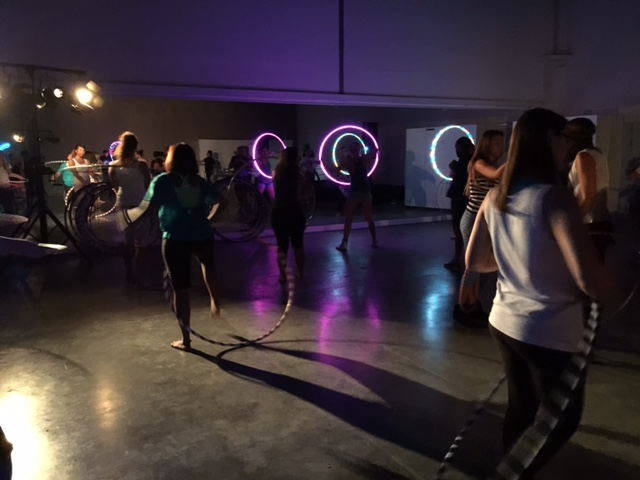 glowing hula hoops