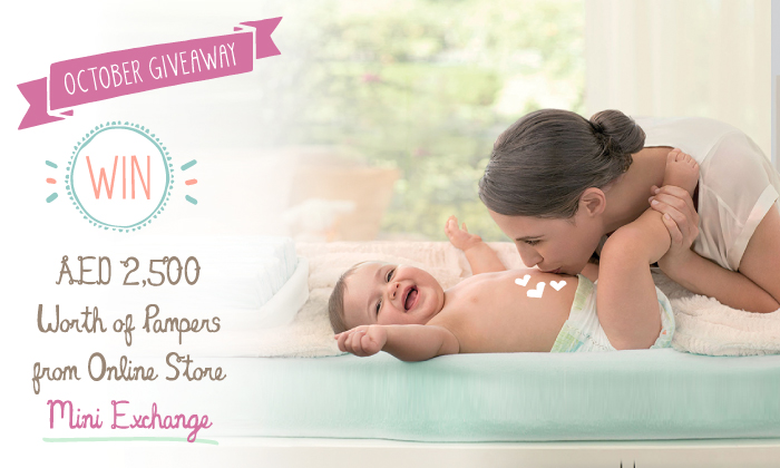 October Giveaway: Win AED 2,500 worth of Pampers Products from Mini Exchange!